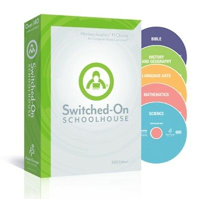 7th Grade SOS 5-Subject Homeschool Curriculum CDs Switched on Schoolhouse 7