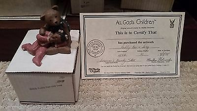"All God's Children Martha Holcombe ""PADDY PAW & LUCY"" w/COA & BOX Edition # 90"