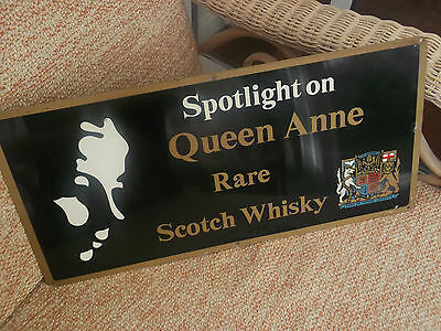 Vintage Queen Anne Rare Scotch Whisky metal advertising sign