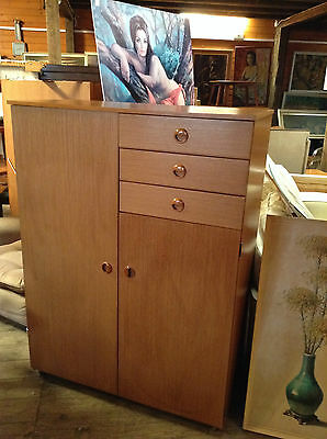 Schreiber Teak 1970s Retro Wardrobe Tallboy with Drawers rare model
