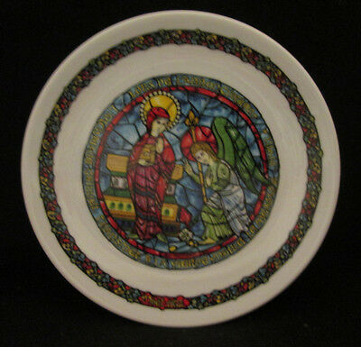 Noel Vitrail L'Annonciation Collector Plate Limoges