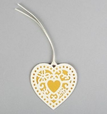 NEW Sass & Belle Shabby Chic Double Heart Gift Tag (Pack of 10)
