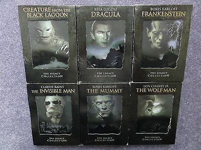 Legacy Collection Complete Set Creature Black Lagoon Mummy Wolf Man Horror Lot