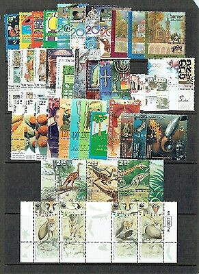 Israel 2000 MNH Complete Year Set Full Tabs & Sovenir Sheets