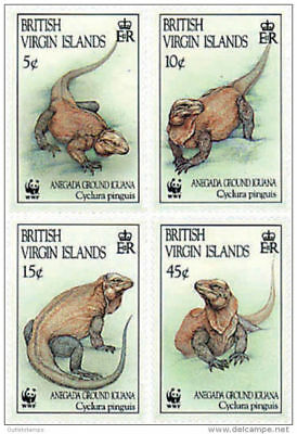 British Virgin Islands 1994 WWF Anegada Ground Iguana MNH