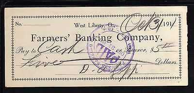 1911 The Farmers Banking Co. - West Liberty, Ohio