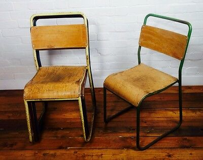 20 available ply stacking chairs school vintage antique industrial kitchen