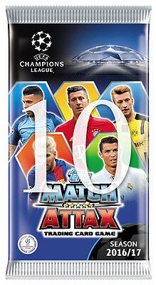 10 Booster Packs 2016/2017 16/17 UEFA Match Attax Soccer Trading Card | TOPPS