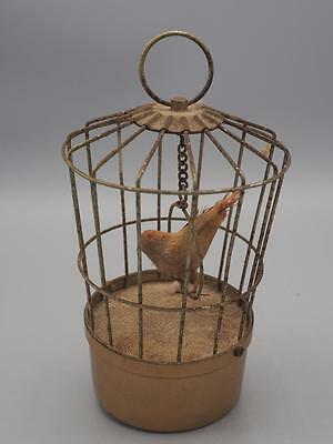 Vintage working Saezuri Transistorized Singing Bird in Bird Cage