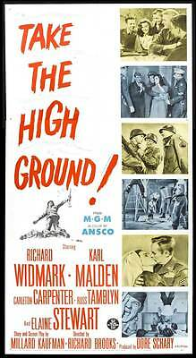 TAKE THE HIGH GROUND! Movie POSTER 27x40 D Richard Widmark Karl Malden Elaine