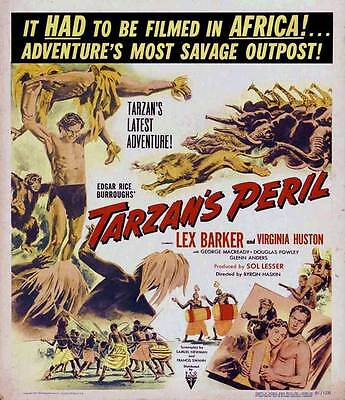 TARZAN'S PERIL Movie POSTER 27x40