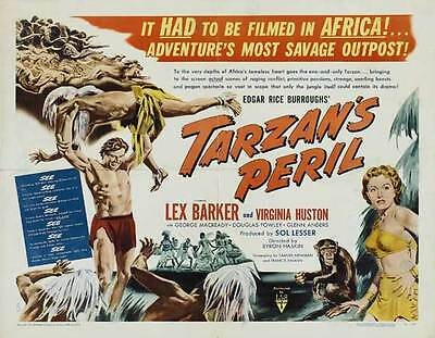 TARZAN'S PERIL Movie POSTER 22x28 Half Sheet