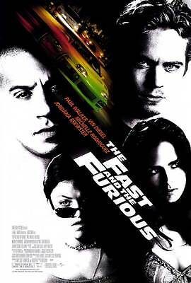 THE FAST AND THE FURIOUS Movie POSTER 27x40 Vin Diesel Paul Walker