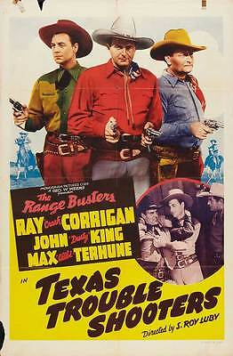 TEXAS TROUBLE SHOOTERS Movie POSTER 27x40 B