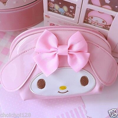 My Melody Pink Bow Cosmetic Make-Up Hand Bag ML155