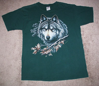 Vintage Wolf T Shirt Adult Size Large Beautiful T Shirt
