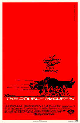 THE DOUBLE MCGUFFIN Movie POSTER 27x40 Ernest Borgnine George Kennedy Elke
