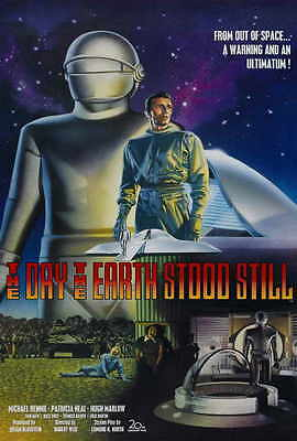 THE DAY THE EARTH STOOD STILL Movie POSTER 27x40 B Michael Rennie Patricia Neal