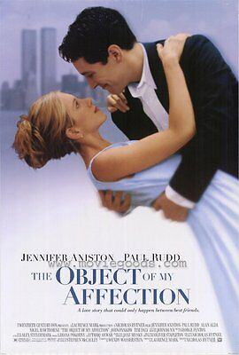 THE OBJECT OF MY AFFECTION Movie POSTER 27x40 Jennifer Aniston Paul Rudd John