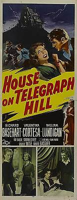 THE HOUSE ON TELEGRAPH HILL Movie POSTER 14x36 Insert