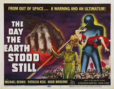 THE DAY THE EARTH STOOD STILL Movie POSTER 30x40 Michael Rennie Patricia Neal