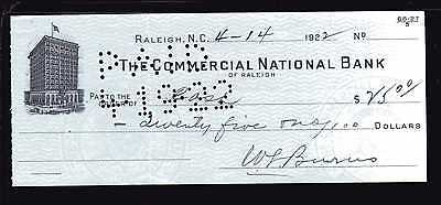 1922 The Commercial National Bank - Raleigh, North Carolina
