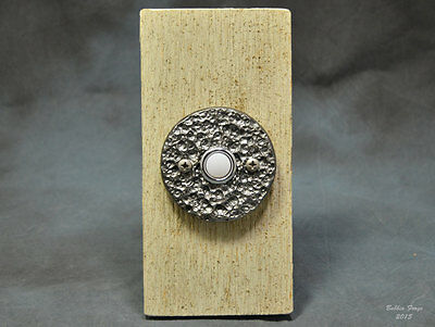 Forged Steel Doorbell Escutcheon Plate With Electric Push Button