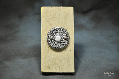 Hand Forged Steel Doorbell Escutcheon Plate With Electric Push Button