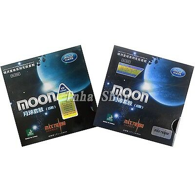 2x Galaxy Moon Max Tense (Factory Tuned) Pips-In Table Tennis Rubber with sponge