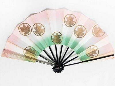 Vintage Used Japanese Odori 'Maiogi' Folding Dance Fan from Kyoto Design: BNovK