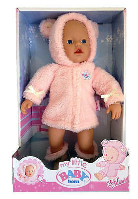 ZAPF CREATION My Little Baby Born Supersoft Winter Time 32cm Doll BNIB 12+ mths