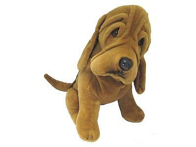 "Large Brown Bloodhound Hound Dog - 20"" Self Standing Plush Toy"