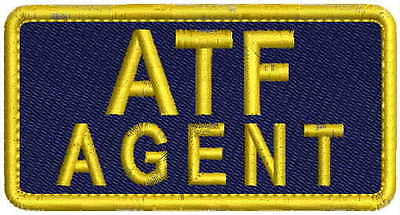 ATF AGENT embroidery patch 2x4 hook on back