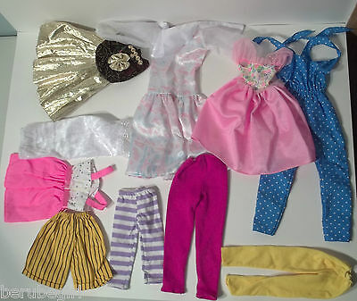 Assorted And Mixed Lot Of Doll Clothes Large Dress Jumpsuit Pants Shorts