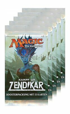 Magic the Gathering Kampf um Zendikar - 5 Booster - Deutsch