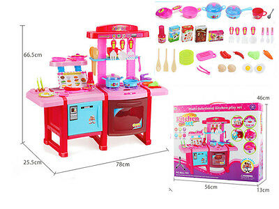 Large Childrens Kids Kitchen Cooking Role Play Pretend Toy Cooker Game Set Xmas
