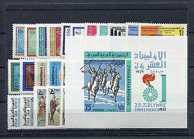 s11694) SYRIA MNH** 1972, complete year sets 26v. + S/S