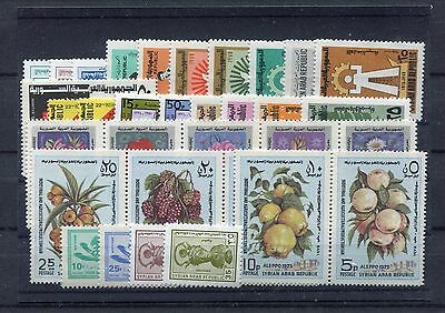 s11697) SYRIA MNH** 1975, complete year sets 33v.