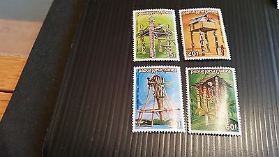 Papua New Guinea  1985 Sg 496-499 Cermonial Structures  Mnh