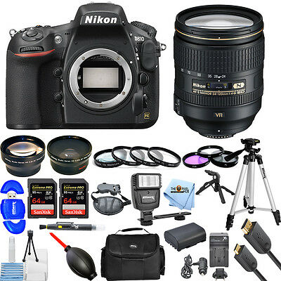 Nikon D810 DSLR Camera with 24-120mm f/4G ED VR Lens!! MEGA BUNDLE BRAND NEW!!