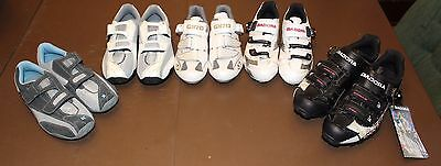 LOT of 5 pairs of Womens ladies girls cycling shoes GIRO SPECIALIZED DIADORA NEW