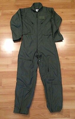Coveralls Flyers Mens Summer Fire Resistant Size 36 R Sage Green Military Army