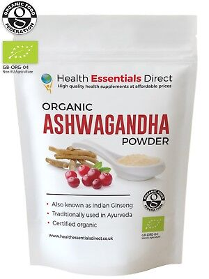 Organic Ashwagandha Powder (Stress Relief, Anxiety, Immune System) Choose Size