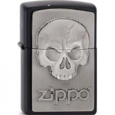 Zippo Phantom Skull Lighter Black Matte Brand New
