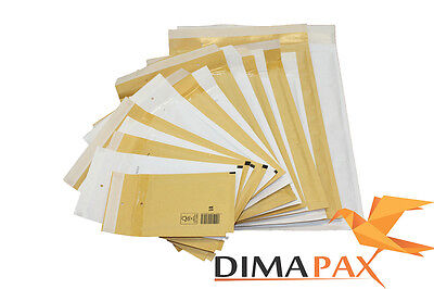 Bubble Padded Mailers Envelopes goods shipping brown WHITE
