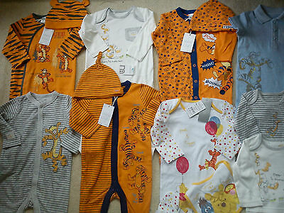 *AMAZING*26x NEW BUNDLE OUTFITS MOTHERCARE TIGER BABY BOY 6/9 MTHS (3)NR326