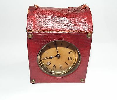 Unusual German Carriage Clock, metal body with Case. Works but runs slow