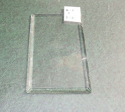 Bevelled clock glass for carriage clocks or similar - 4.8 cms x 8.4cms