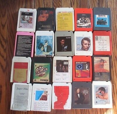Mixed Lot Of 20   8 Track Tapes