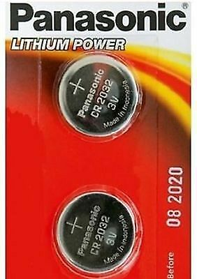 2 x Panasonic CR2032 3V LITIO A MONETA CELLE Batteria 2032